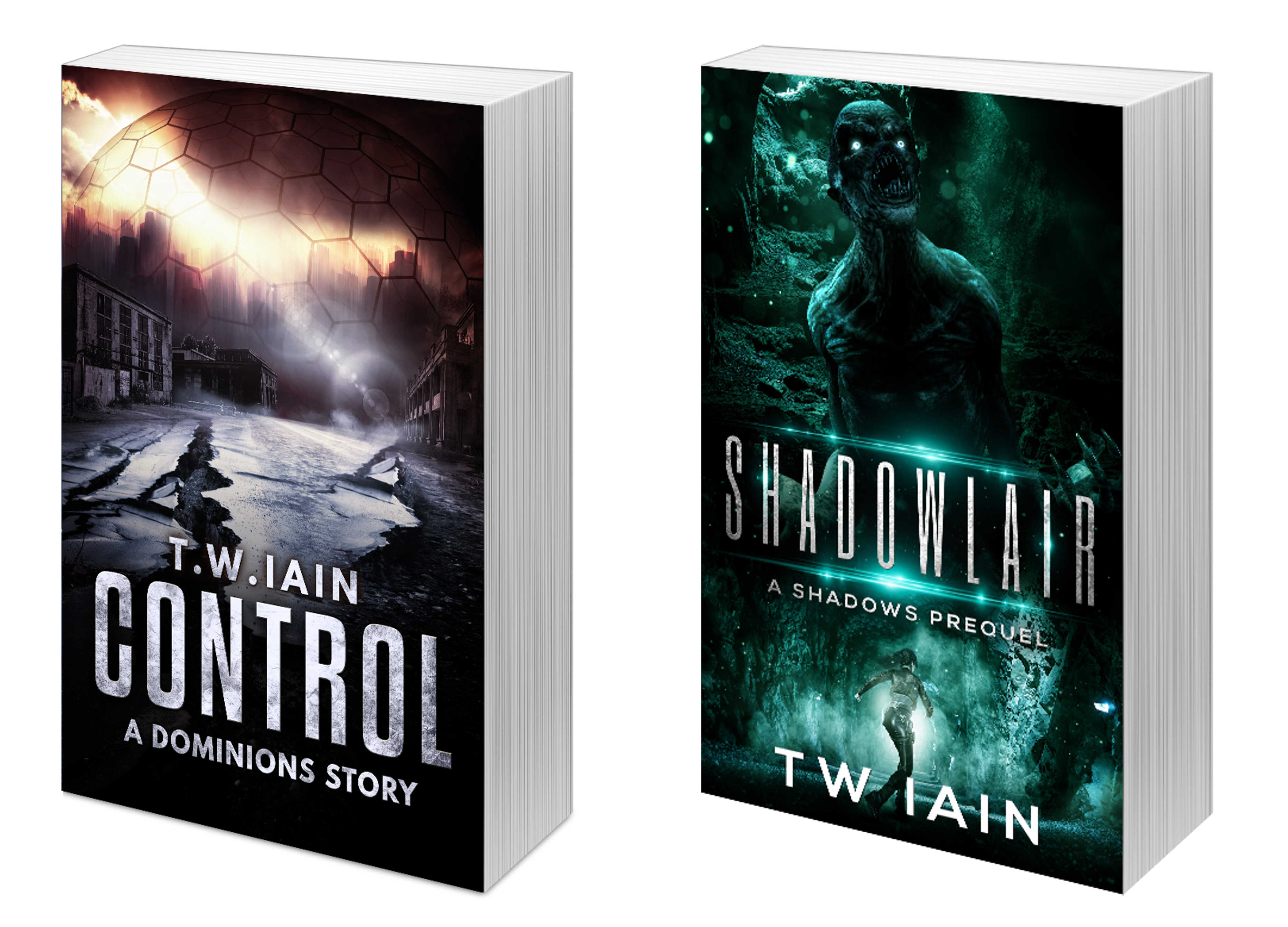 Control and Shadowlair book covers